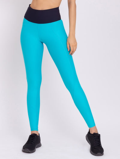 V-Attack Performance Leggings With Pocket Miami Blue - VOTIG