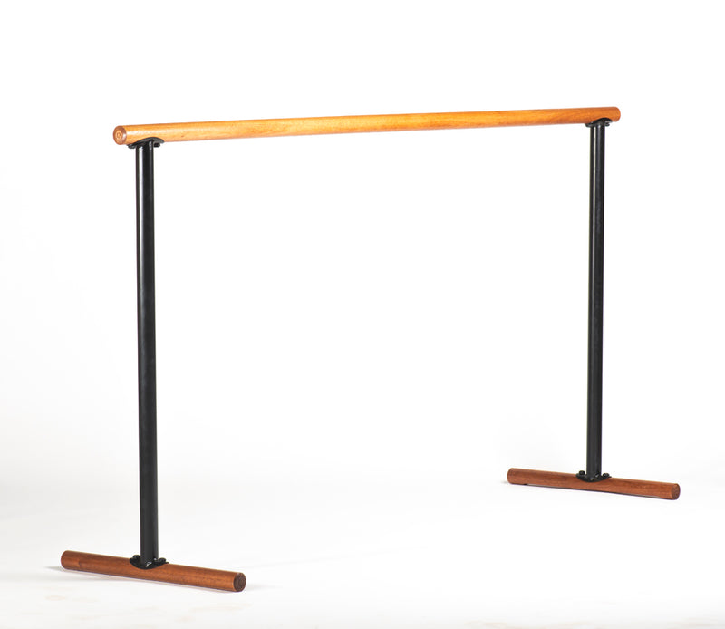 Portable Ballet Barre - Luxurious Red Hardwood - H=106 L=190 cm
