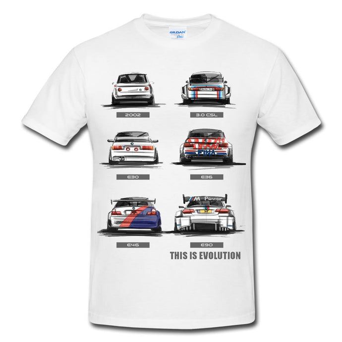 Motorsport M3 Evolution E30 E36 E46 E90 T-shirt