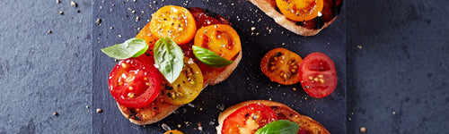 Grilled Herb Tomatoes on Toast
