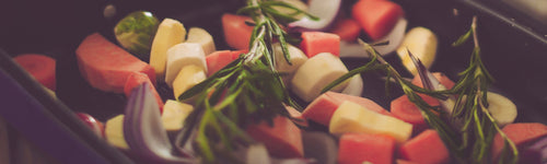 Root Vegetable and Rosemary Tray Bake