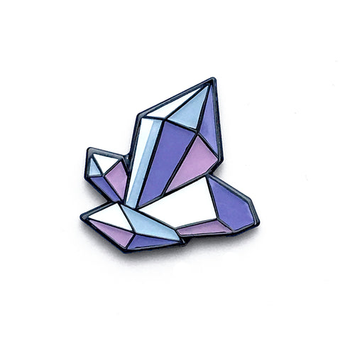 Amythest Crystal Enamel Mini Pin