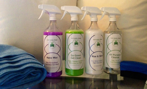 4 Bottle & 8 Microfiber Towel Combo + FREE SHIPPING