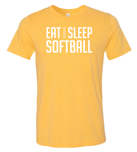Eat Sleep Softball T-Shirt (more colors available)