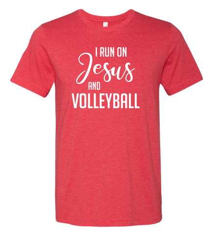 I Run on Jesus T-Shirt  (more colors available)