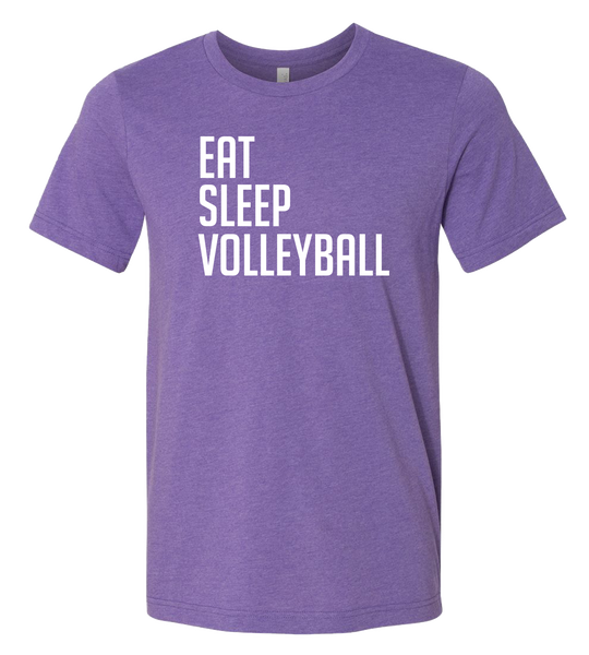 Eat Sleep Volleyball T-Shirt  (more colors available)