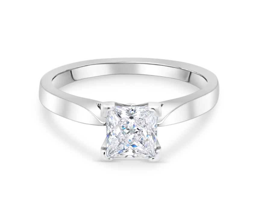 1.00CT Princess Cut Solitaire Engagement Ring