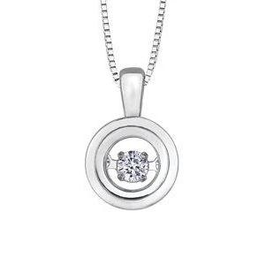 .05CT Round Pulse Necklace