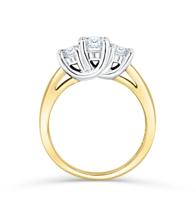 1.00CT Royal Trinity Engagement Ring