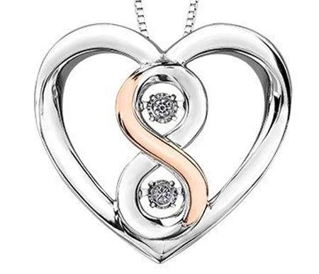 .08CT Pulse Infinite Love Necklace