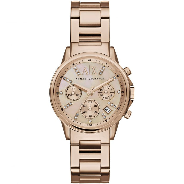 Armani Exchange Lady Banks Watch: Rose Tone