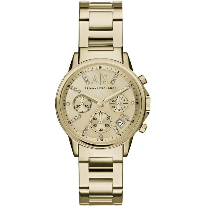 Armani Exchange Lady Banks Watch: Gold Tone