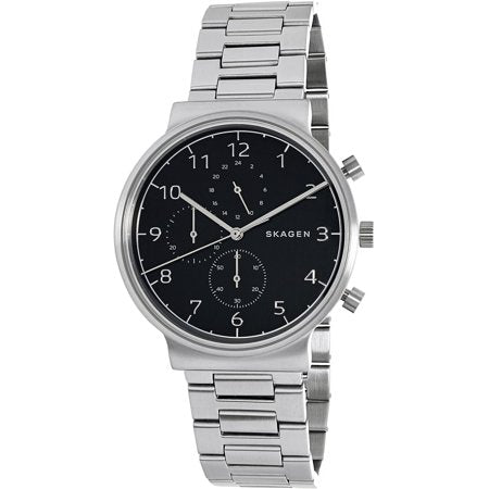 Skagen Men's Ancher Steel-Link Chronograph Watch