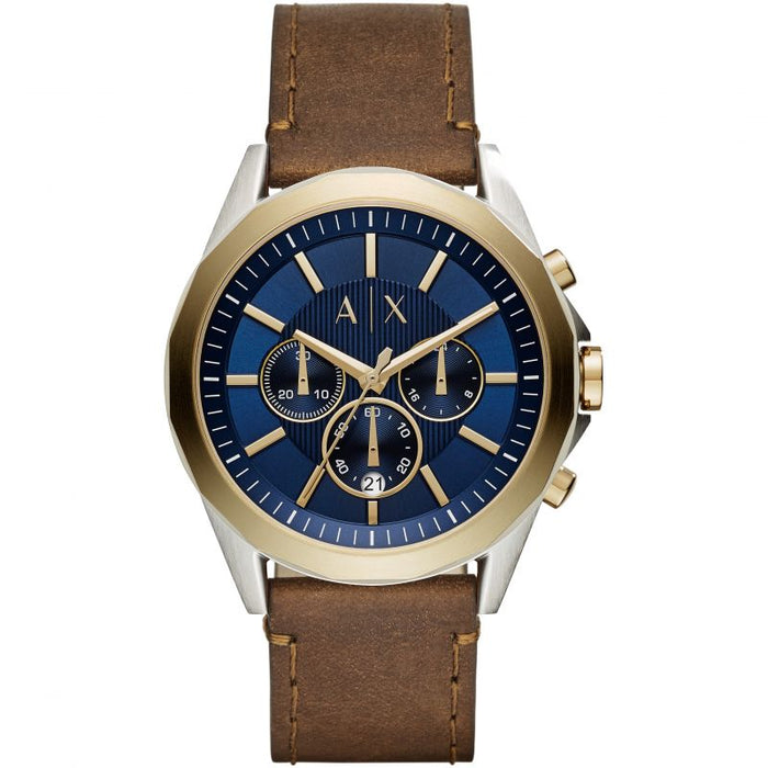 Armani Exchange Drexler Watch: Brown Leather