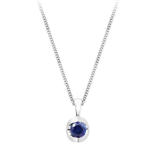 Sapphire Stud Necklace