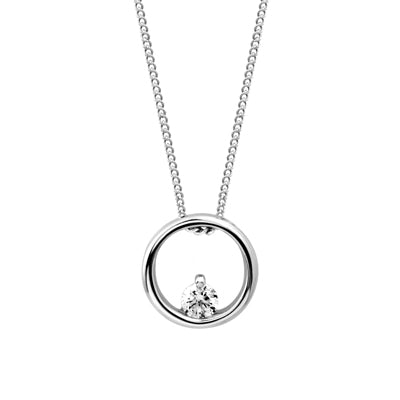 Circle of Life Necklace w/ Diamond
