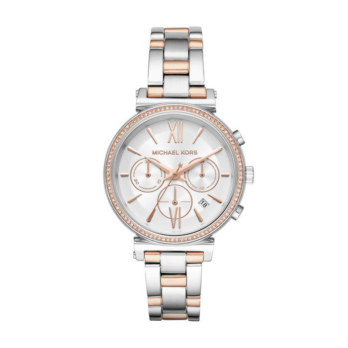 Michael Kors Sofie Watch: Rose Gold/Silver