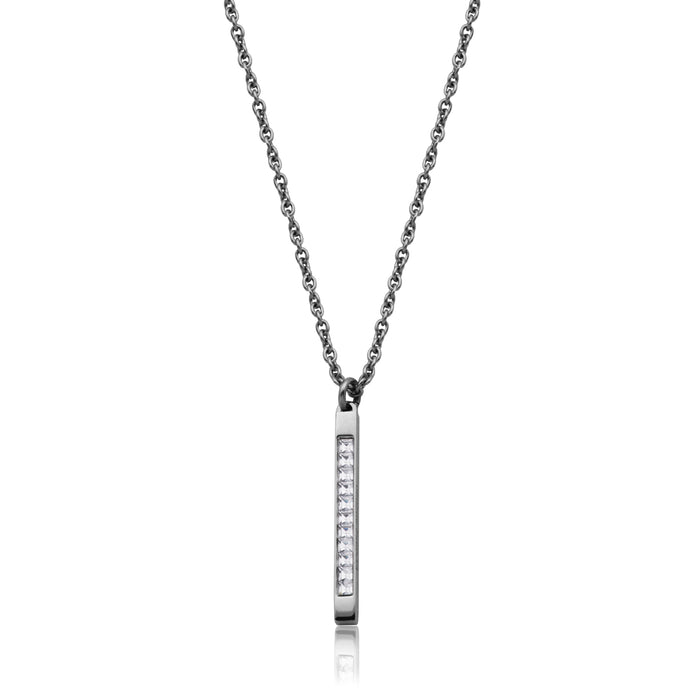 Steelx CZ Bar Necklace