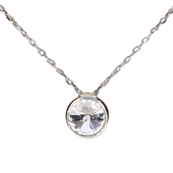 Crystal Drop Necklace: Clear