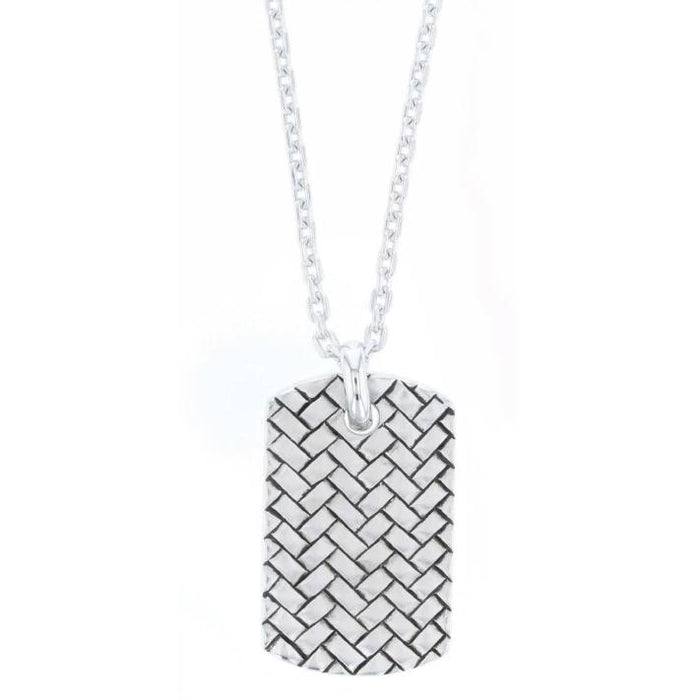 Dog Tag Weave Necklace