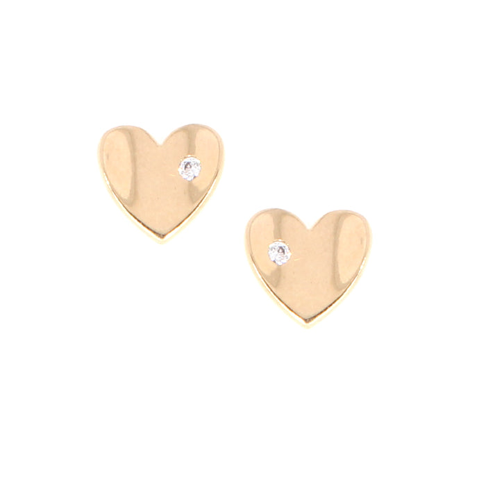 Heart Earrings: Rose Gold