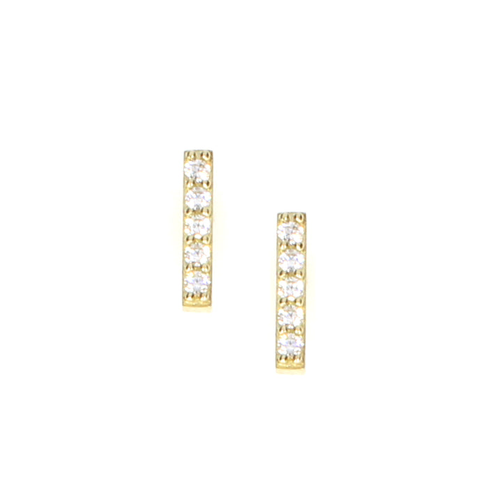 Bar Earrings: Yellow Gold