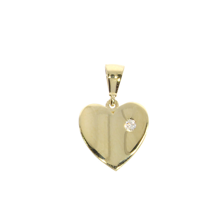 Heart Pendant: Yellow Gold