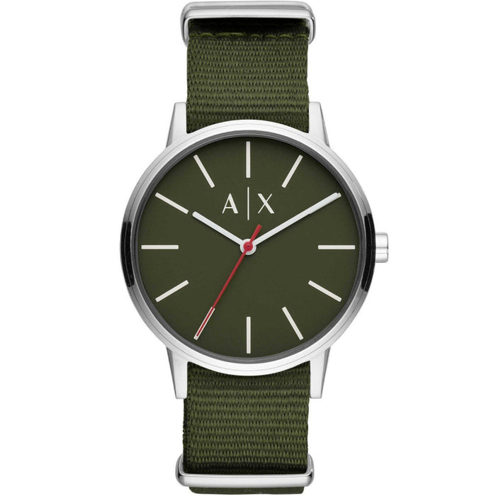 Armani Exchange Cayde Watch: Army Green