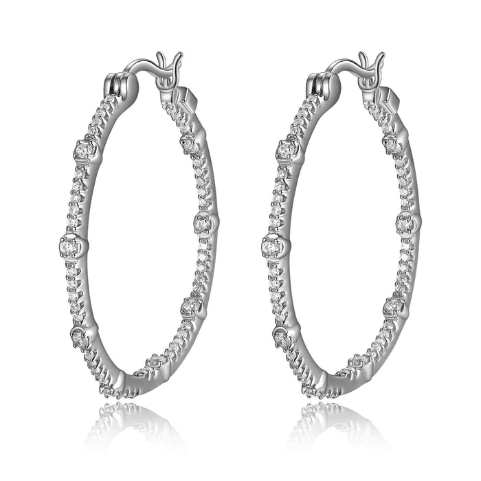 Elle Rodeo Hoops: Silver