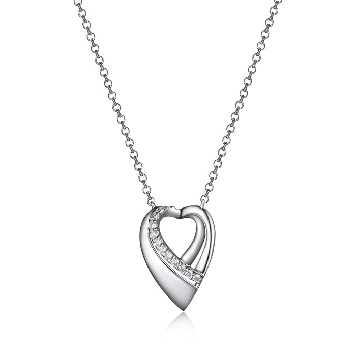 Elle Amour Open Heart Necklace