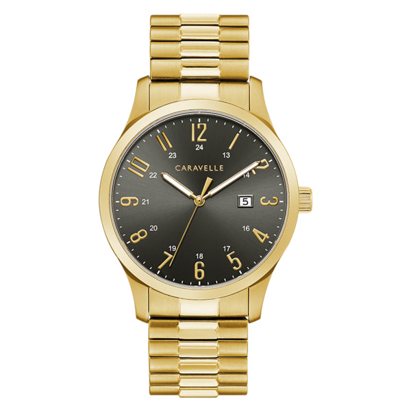 Caravelle Men's Watch: Gold Tone