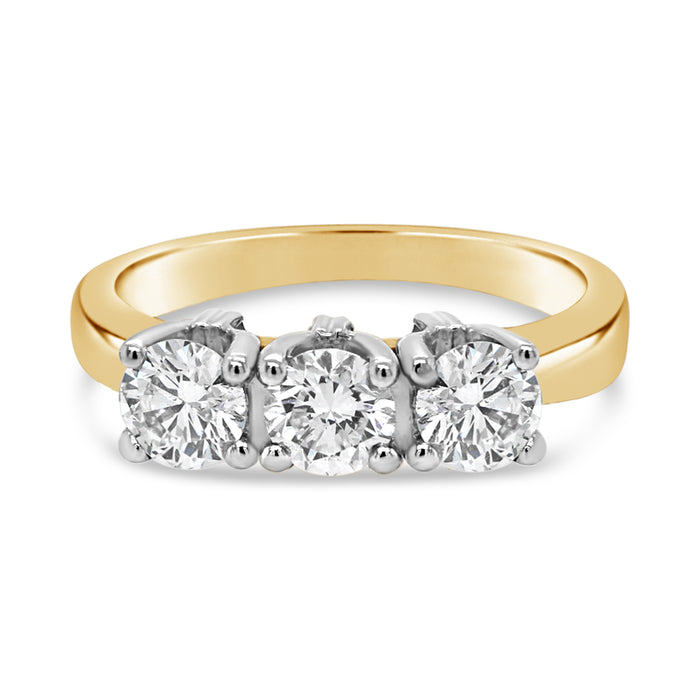 1.00CT Traditional Trinity Engagement Ring