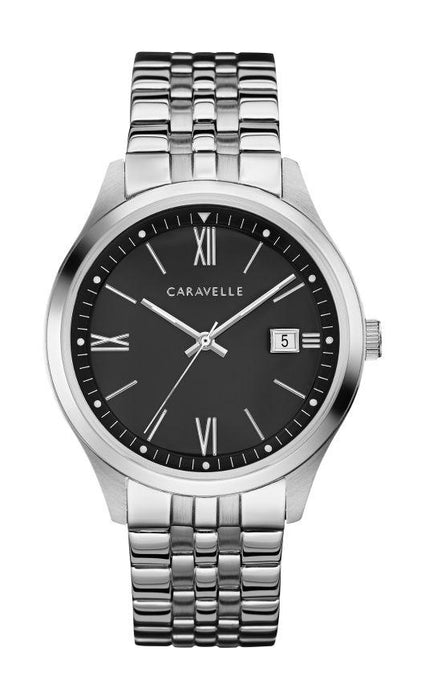 Caravelle Men's Watch: Silver Tone