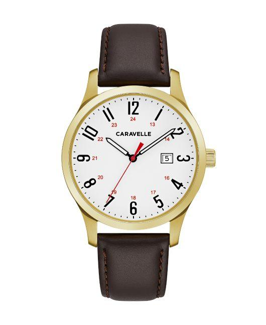 Caravelle Men's Watch: Brown