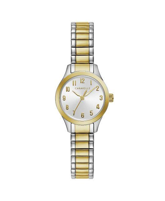 Caravelle Watch: Two Tone
