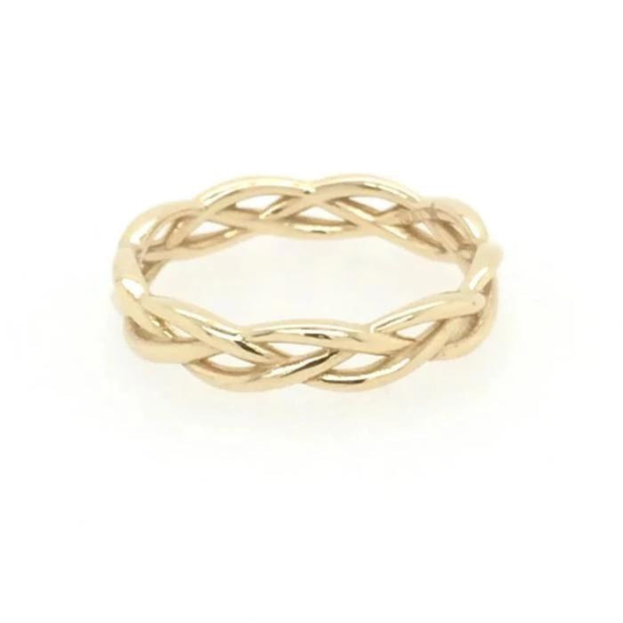 Woven Ring: Yellow Gold
