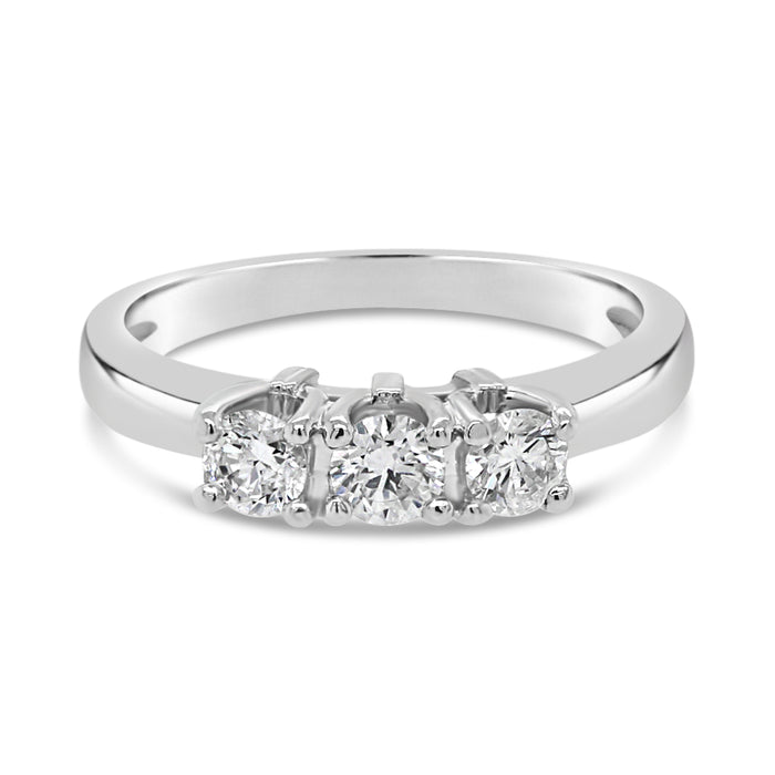 .50CT Traditional Trinity Engagement Ring