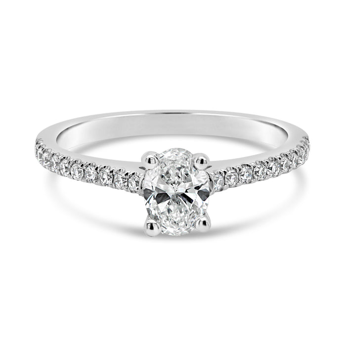 .68CT Lab Grown Oval Engagement Ring