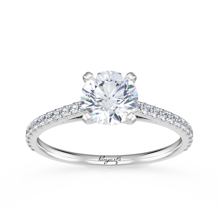 Petite Diamond Cathedral Engagement Ring