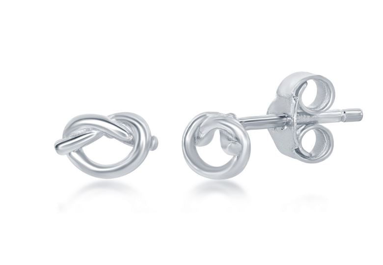 Love Knot Earrings: Silver