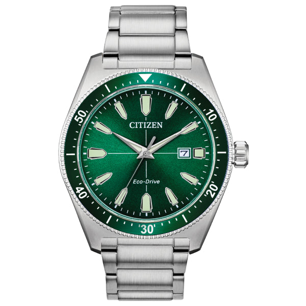 Citizen Brycen Watch: Silver/Green