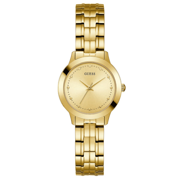 Guess Women's Slim Classic Watch: Gold