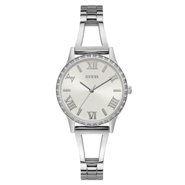 Guess Women's Analog Watch: Silver