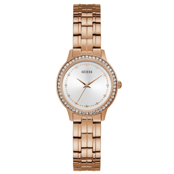 Guess Women's Petite Watch: Rose Gold