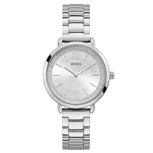 Guess Ladies Sparkle Watch: Silver