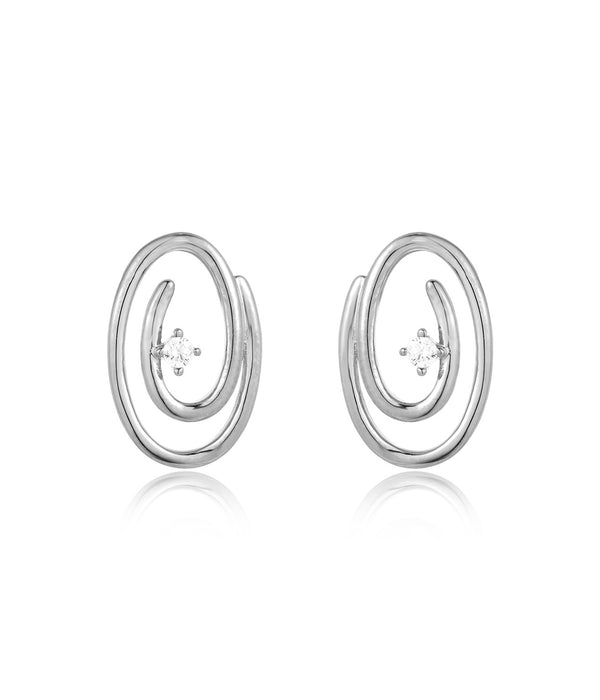 Swirl Earrings: Silver