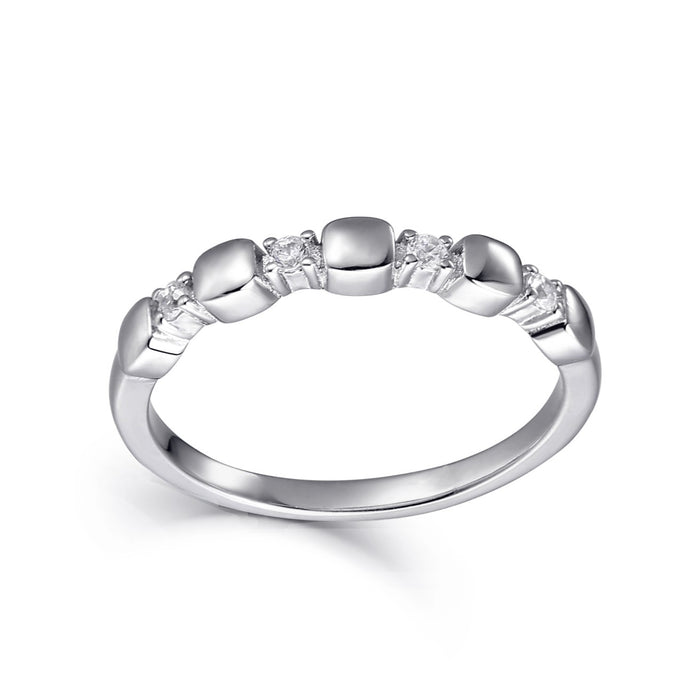 X's and O's Stackable Ring: O