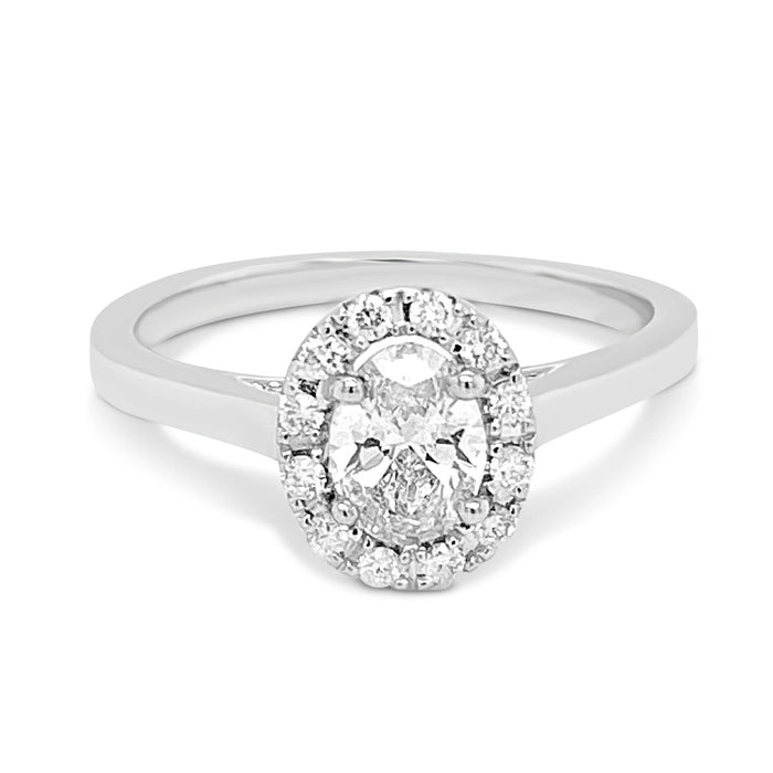 .92CT Lab Grown Oval Engagement Ring
