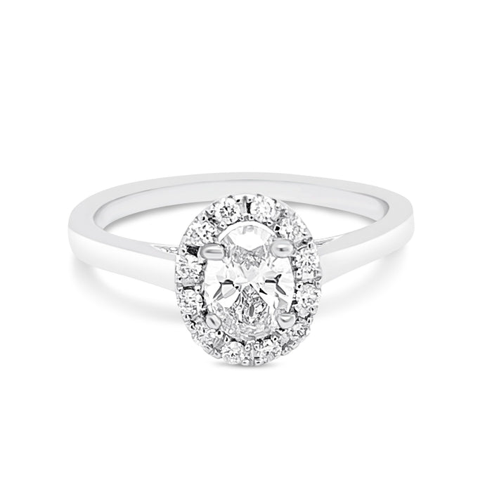 .65CT Lab Grown Oval Engagement Ring