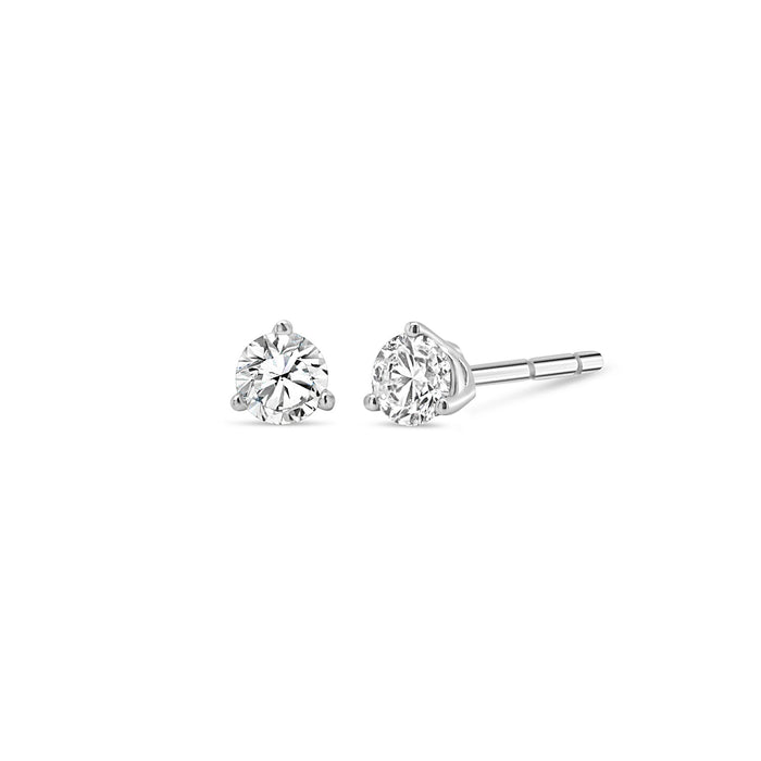 .15CT Bogart's 3 Prong Diamond Studs